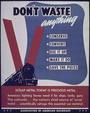 Association of American Railroads - Association of American Railroads WWII poster