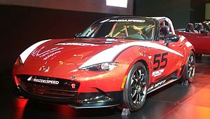 The 2016 Mazda MX 5 Cup Edition At The Montreal International Auto Show  2016.