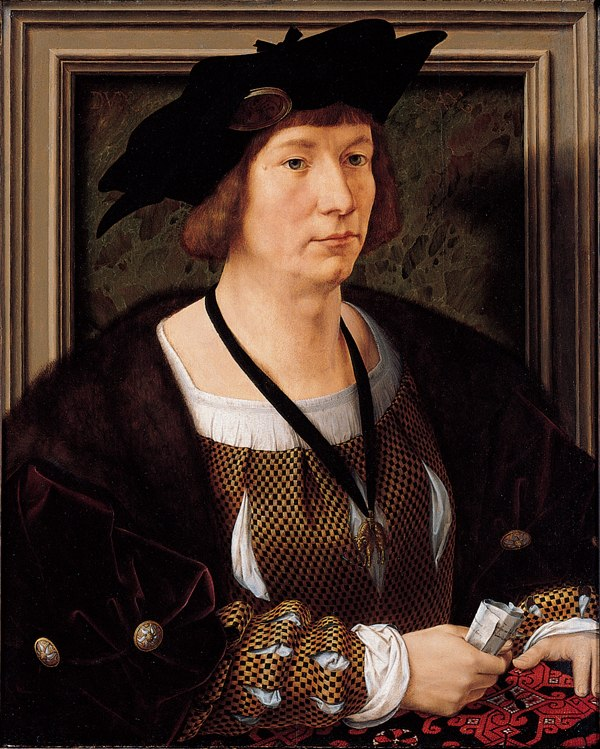 'Portrait of Hendrik III, Count of Nassau-Breda', oil on panel painting by Jan Gossart (Mabuse)