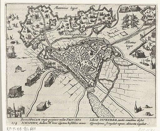's-Hertogenbosch belegerd door Maurits, 1601, RP-P-OB-80.601