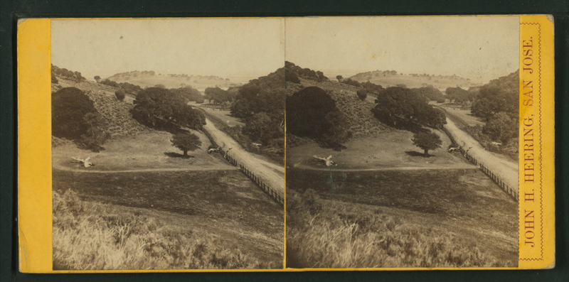 File:(View of hills with trees and road.) San Jose, California, from Robert N. Dennis collection of stereoscopic views.png