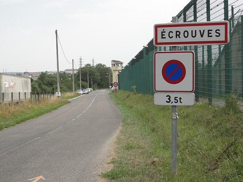 Écrouves (Meurthe-et-M.) city limit sign