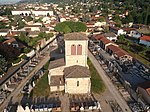 Église Saint-Martin de Miribel, vue aérienne - 1.JPG