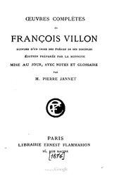 François Villon: Œuvres complètes de François Villon