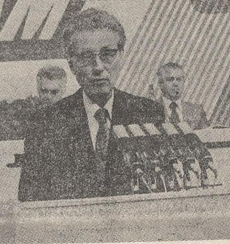 President of the League of Communists of Macedonia - Angel Čemerski