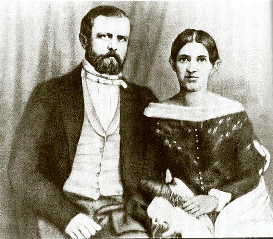 Бисмарк с супругой
