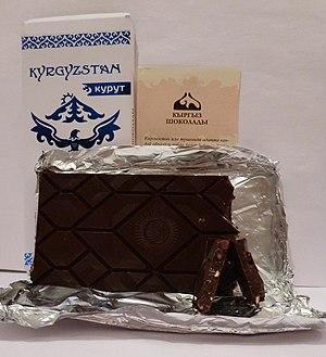 Киргизский горький шоколад с курутом (13% продукта)