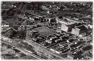 Murmansk - Aerial view of Murmansk, 1936