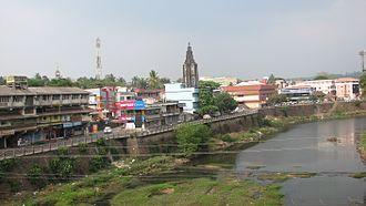 Meenachil - Palai city on the banks of Meenachil river