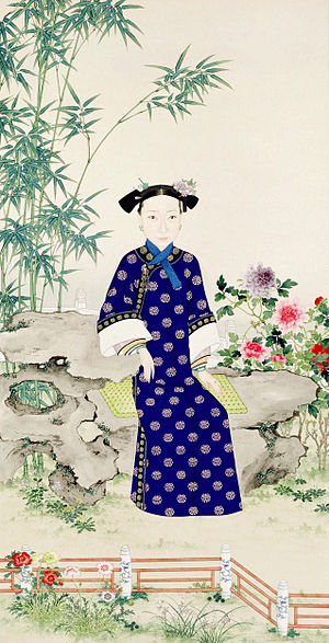 Empress Dowager Ci'an - Empress Dowager Ci'an as depicted by a court painter