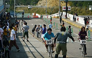 Health and Sports Day - A cycling event for Health and Sports Day (体育の日) in 2011 near the city of Nihonmatsu, Fukushima