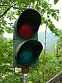 內灣國小內廢棄行人號誌燈 20120815.jpg