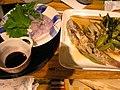 料理されたキュウセン【刺身と煮付け】(スズキ目ベラ亜目ベラ科キュウセン属)6233633.JPG