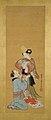 白拍子・遊女図-Shirabyōshi Dancer and Female Servant; Courtesan and Girl Attendant MET 2015 300 116 O1 Burke.jpg