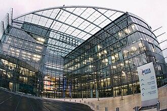 Merck Serono - The former headquarters of Merck Serono in Geneva (which now hosts the Campus Biotech).