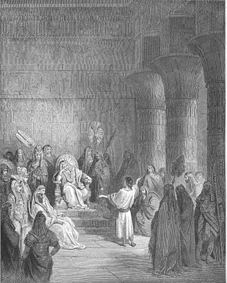 Tzadik - Joseph interprets Pharaoh's Dream (Genesis 41:15–41). Of the Biblical figures in Judaism, Yosef is customarily called the Tzadik. Where the Patriarchs lived supernally as shepherds, the quality of righteousness contrasts most in Joseph's holiness amidst foreign worldliness. In Kabbalah, Joseph embodies the Sephirah of Yesod, the lower descending connection of spirituality to materiality, the social role of the Tzadik in Hasidism.