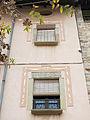 039 Ca l'Arola, a la plaça Gran (Santpedor), detall de la façana.JPG