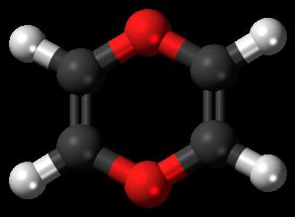1,4-Dioxin - Image: 1,4 Dioxin 3D balls 2