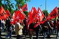 1. Mai 2011 Hannover Klagesmarktkreisel Fahnenträger der SPD Jusos Jungsozialisten in der SPD.jpg