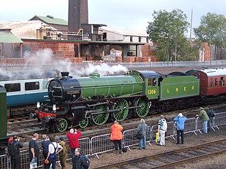 LNER Thompson Class B1 - 1306 at Barrow Hill station