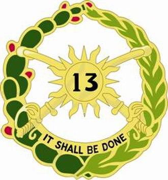 13th Cavalry Regiment - Image: 13Cavalry Regt DUI