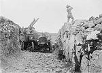 13 pounder 9 cwt AA gun and crew Italy WWI IWM Q 26824.jpg