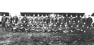 141st Air Refueling Squadron - 141st Aero Squadron, November, 1918 Gengault Aerodrome (Toul), France.