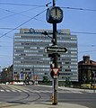 147R02200686 Bereich Schwedenplatz - Schwedenbrücke, Blick Richtung Taborstrasse, Strassenbahn Linie 1, Typ E1 4670 edit.jpg
