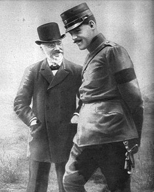 Constantine I of Greece - Constantine with Eleftherios Venizelos in 1913.