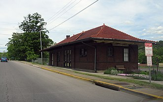 National Register of Historic Places listings in Morgan County, West Virginia - Image: 1615 Berkeley Springs Train Station