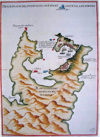 Spanish Formosa - Spanish Map of Keelung and Tamsui Harbor, 1626