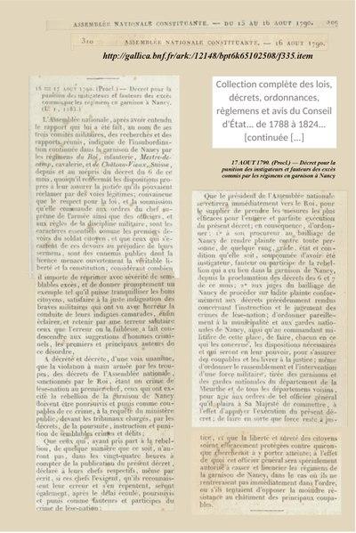 File:17 AOUT 1790. — Décret pour la punition des instigateurs et fauteurs des excès commis par les régimens en garnison à Nancy.pdf