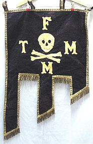 1800's -Knights of Columbus- Fraternal Banner w Skull.jpg