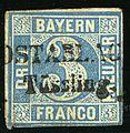 1849 Bayern 3kr POSTABLAGE Tüssling Mi2II.jpg