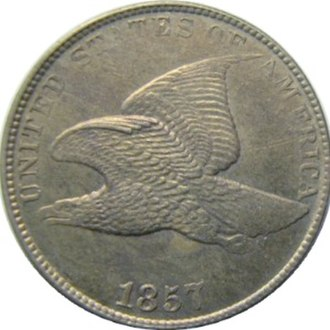 Coinage Act of 1857 - Image: 1857.Eagle.Cent.obve rse