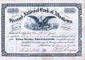 1870 - Second National Bank Stock Certificate Allentown PA.jpg