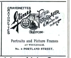 1896 Glines portraits advert Boston USA.png