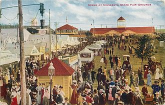 Minnesota State Fair - 1910 Minnesota State Fair postcard