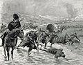 1916 - Albert Reich - Batalia de la Ramnicu Sarat, trupe romano-ruse retragandu-se in debandada p63.jpg