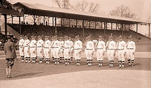 1917 Washington Senators season - Image: 1917 Washington Senators Opening Day