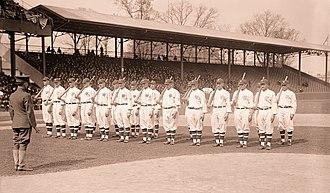 1917 Washington Senators season - Image: 1917 Washington Senators Opening Day