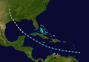 1918 Atlantic hurricane season - Image: 1918 Atlantic hurricane 1 track