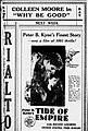 1929 - Rialto Theaer Ad - 13 Mar MC - Allentown PA.jpg