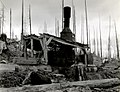1938. Donkey engine. Interstate Logging Company. Tillamook Burn, Oregon. (34020829135).jpg