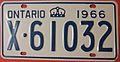 1966 ONTARIO LICENSE PLATE - Flickr - woody1778a.jpg