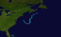 1974 Atlantic subtropical storm 3 track.png