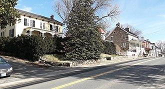 Hillsboro, Loudoun County, Virginia - A row of nineteenth century houses in Hillsboro