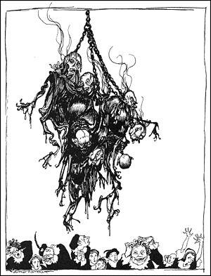Hop-Frog - Hop Frog's last joke, 1935 illustration by Arthur Rackham