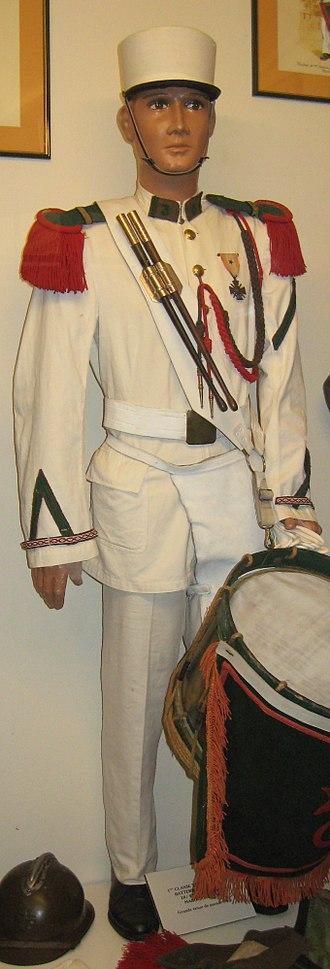 French Foreign Legion Museum - Image: 1CLtambour 3REI 1931