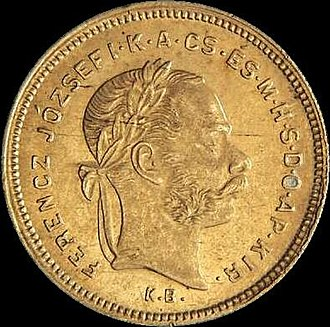 Kremnica Mint - The last ducat minted in Kremnica for circulation (obverse, 1881).
